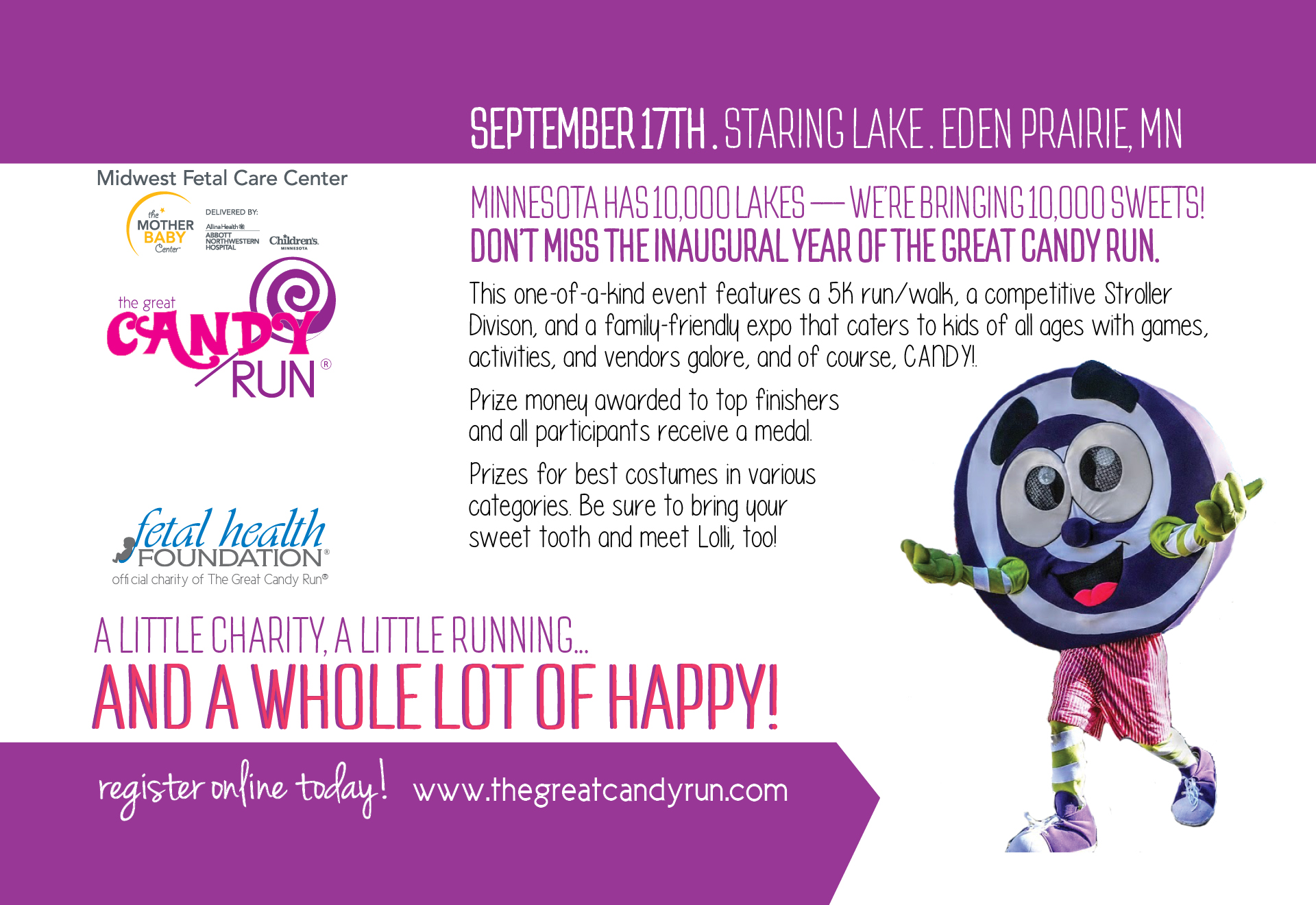great candy run save the date card minneapolis